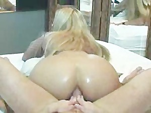 hot butt driving in front of mirror