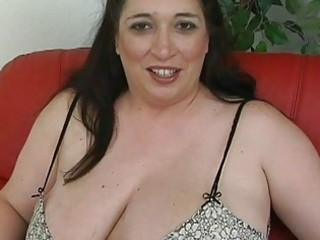 blonde black haired momma with giant breast plays