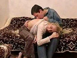 thin russian grownup babe fucking with a teenager