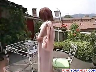desperate brunette american woman trades head and