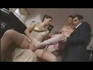 two french cougar in pantyhose sm65