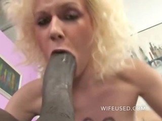 blonde adores big black cock into her oral and