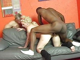 albino cuckold lady with tattoes acquires shagged