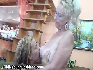 blond cougar elderly worships having
