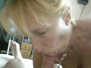blond cougar lick off at house