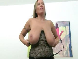 cougar woman drilling on leather bed
