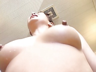 older japanese woman creampied in the bathroom