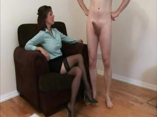 nylons having on woman jerks a dudes libido